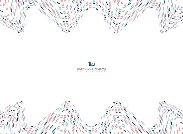 Maglia geometrica astratta di colori del fondo ondulato di progettazione