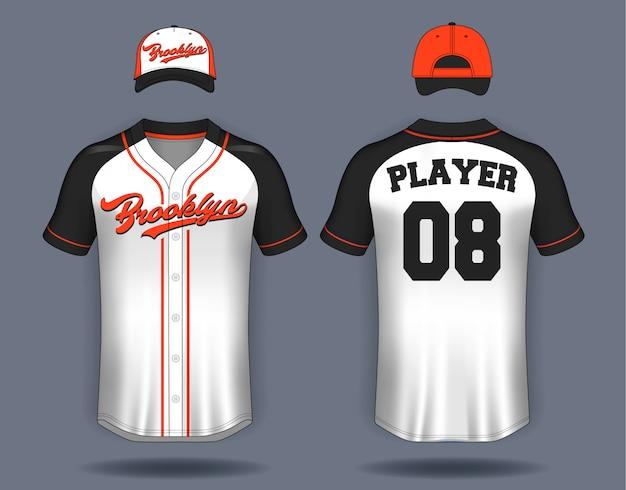 Maglietta da baseball mock up.