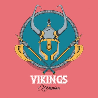 Maglietta dei guerrieri dei vichinghi stampata