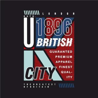 Maglietta del design grafico della città britannica