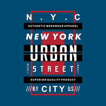 Maglietta del design urbano di new york