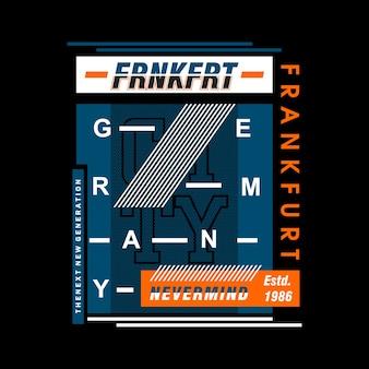 Maglietta di design elementi di francoforte germania