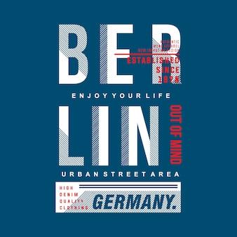 Maglietta di tipografia grafica di berlino