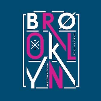 Maglietta di vettore di progettazione di iscrizione del brooklyn