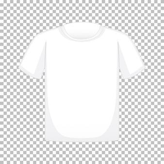 Maglietta in bianco su trasparente
