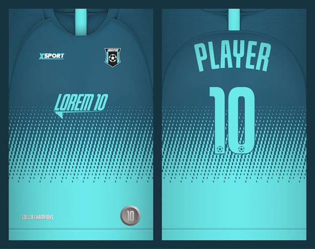 Maglietta sportiva modello calcio jersey