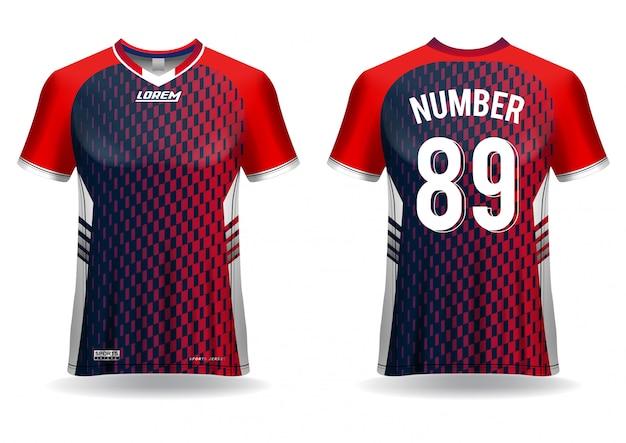Maglietta sportiva modello di maglia da calcio