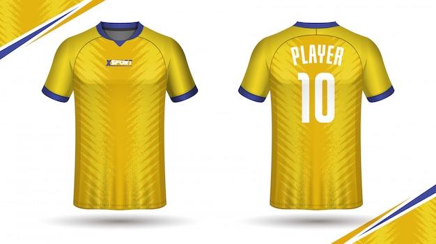 Maglietta sportiva modello maglia calcio