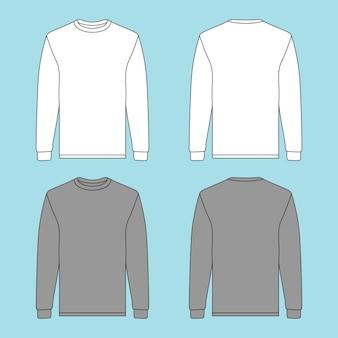 Maglione a maniche lunghe con due diversi colori