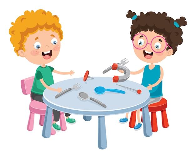 Magnete con esperienza per piccoli studenti