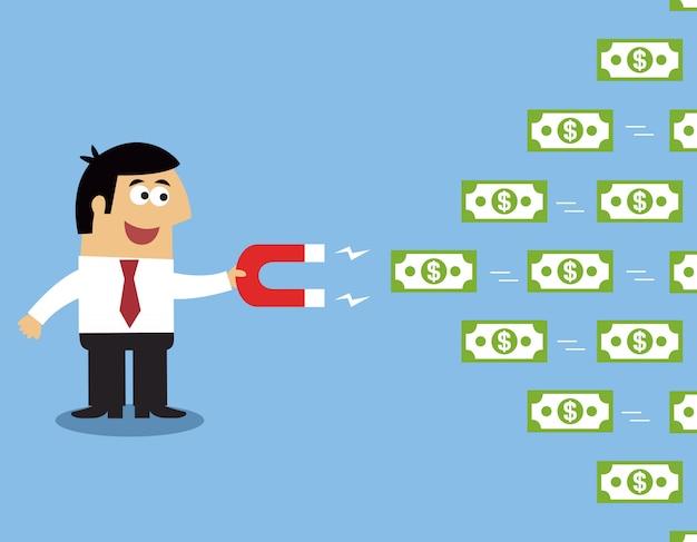 Magnete dei soldi dei dipendenti