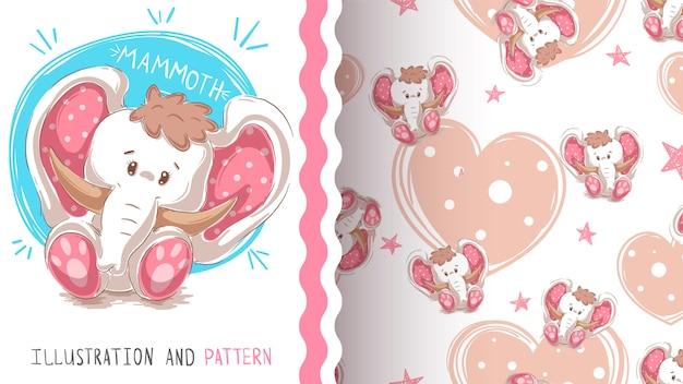 Mammut teddy carino - modello senza soluzione di continuità