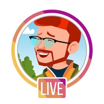 Man streamer, streaming video live.