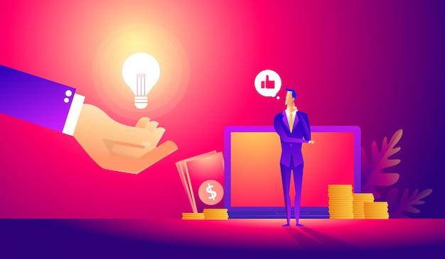 Manager al lavoro a distanza, alla ricerca di nuove idee soluzioni.