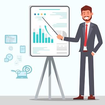 Manager making presentation