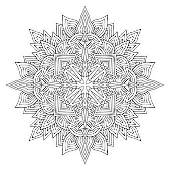 Mandala art design. motivo ornamentale boemo