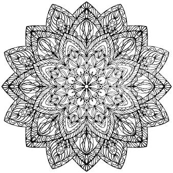 Mandala. asiatico etnico del modello decorativo indiano