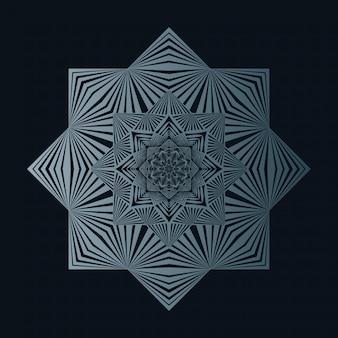 Mandala background di lusso creativo con decorazione arabesca dorata