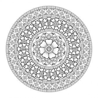 Mandala background di lusso creativo