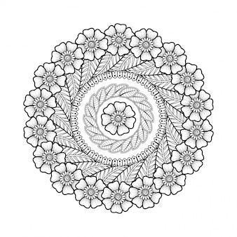 Mandala background di lusso creativo