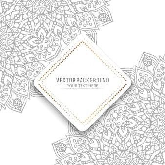 Mandala card o invito con elementi decorativi vintage
