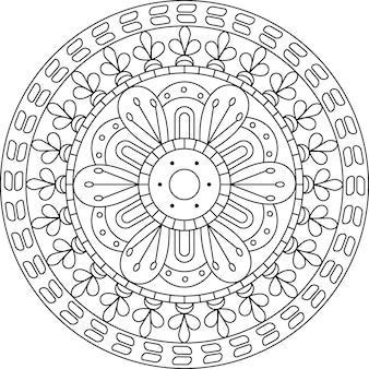 Mandala circle design lineare