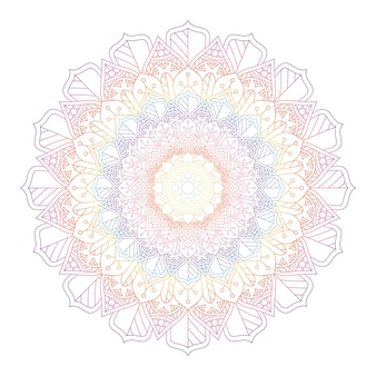 Mandala color arcobaleno