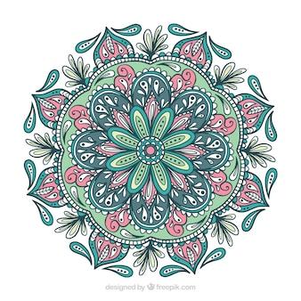 Mandala colorato con ornamenti