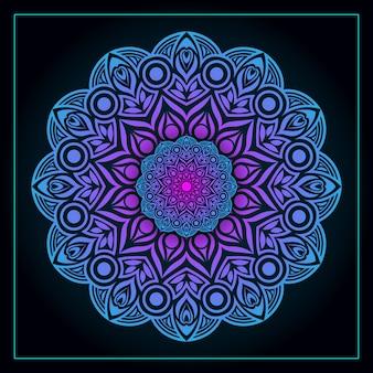 Mandala colorato di lusso elegante sfondo vettoriale