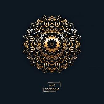 Mandala d'oro ornamentale