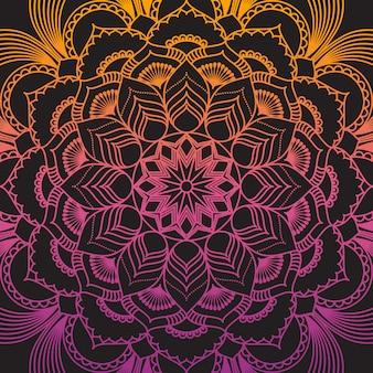 Mandala decorativa e disegno del modello