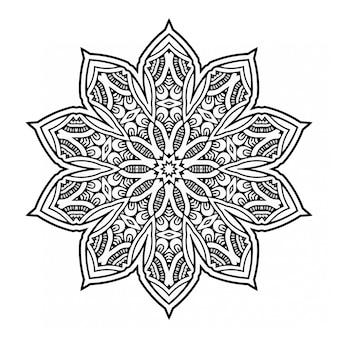 Mandala decorativo bianco e nero