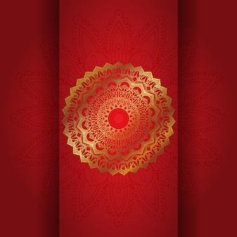 Mandala decorativo sullo sfondo