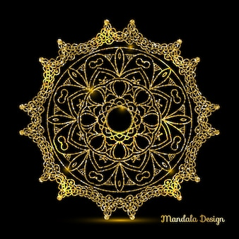 Mandala design d'oro