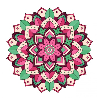 Mandala design isolato