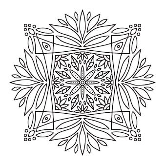 Mandala design mehndi. pagina del libro da colorare