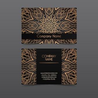 Mandala design per biglietto da visita