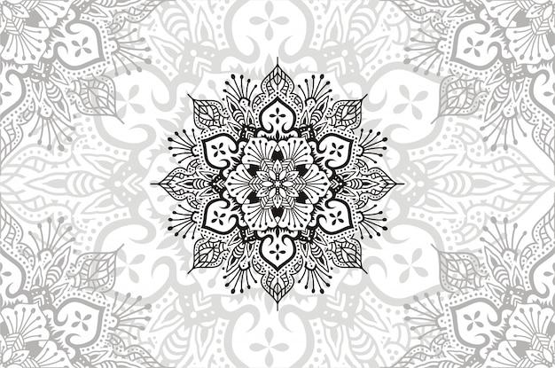 Mandala di fiori. elementi decorativi vintage. illustrazione del modello orientale.