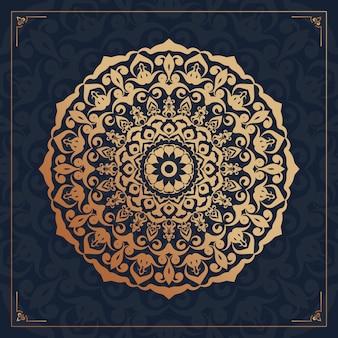Mandala di lusso arabesco sfondo ornamentale