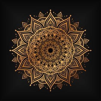Mandala di lusso arabesco