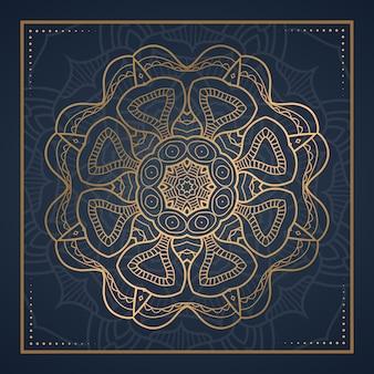 Mandala di lusso astratto