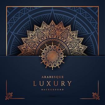 Mandala di lusso con arabeschi dorati arabo stile islamico orientale
