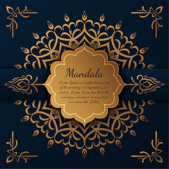 Mandala di lusso con motivo arabesco dorato stile arabo arabo mandala,,