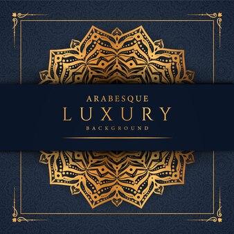 Mandala di lusso creativo con decorazione arabesco dorato