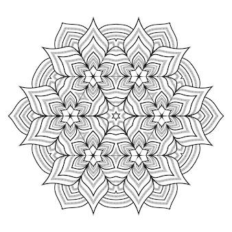 Mandala di lusso creativo in stile arabesco