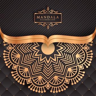 Mandala di lusso decorativo etnico elemento di sfondo