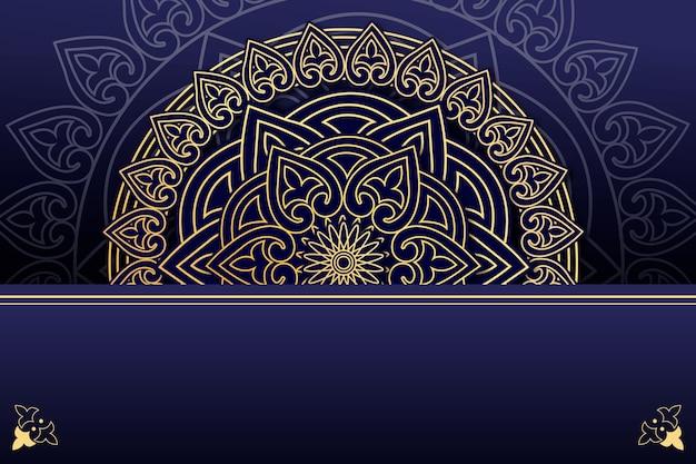 Mandala di lusso design di sfondo