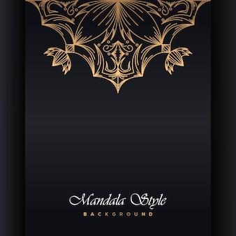 Mandala di lusso design ornamentale