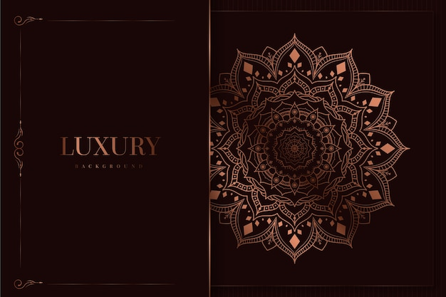 Mandala di lusso ed elegante sfondo