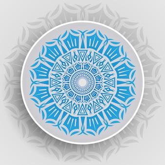 Mandala di lusso elegante sfondo vettoriale